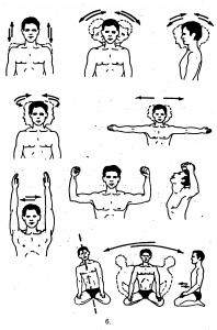 Упражнение для позвоночника и живота (подготовительная и главная части).